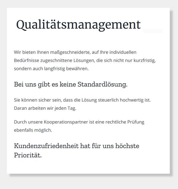 Qualitaetsmanagement aus 74177 Bad Friedrichshall