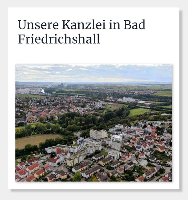 Steuerberatungskanzlei aus 74177 Bad Friedrichshall